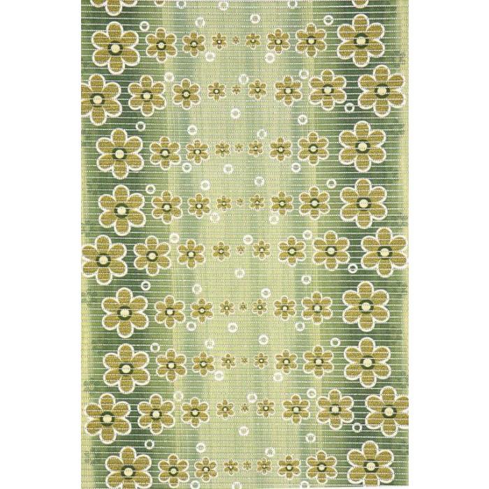 Постелка за баня 65 см 464/4 цветя зелен