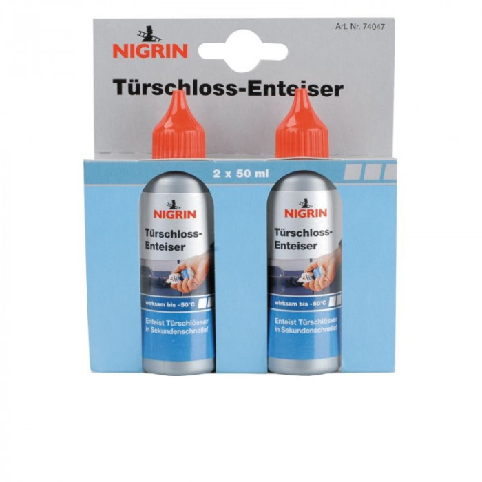 Nigrin препарат за размразяване на ключалки, 2 х 50 мл