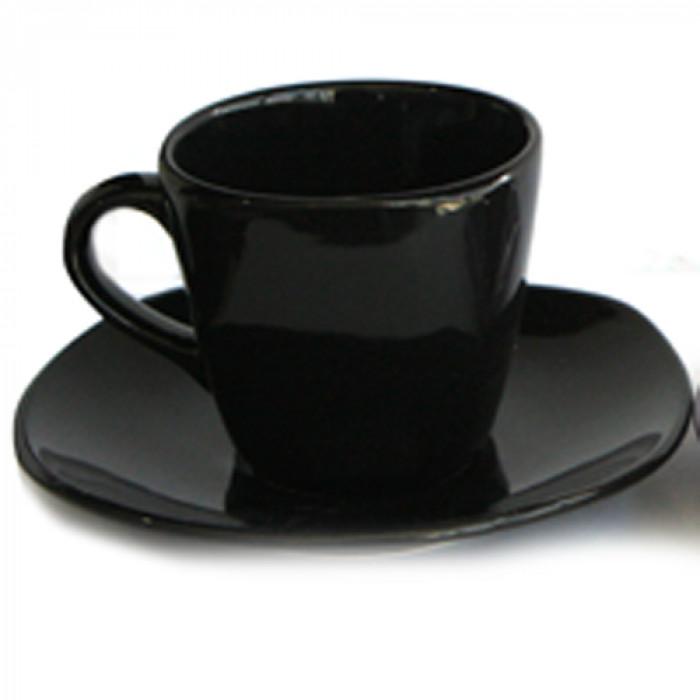 Сервиз чай керамичен  6бр черен