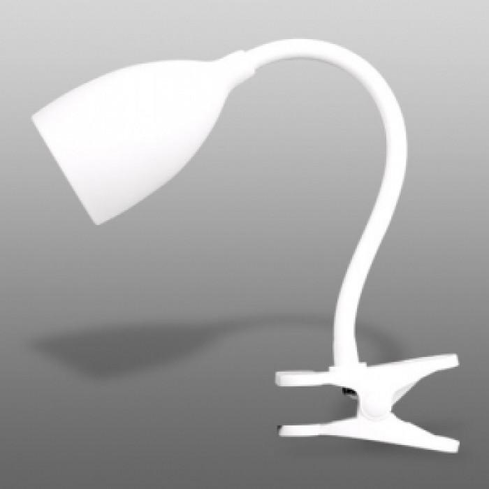 Силиконово осветително тяло E14 с клипс бяла