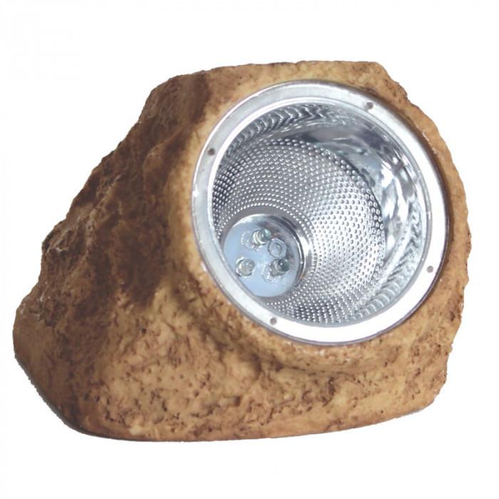 Соларна LED лампа - кафява скала