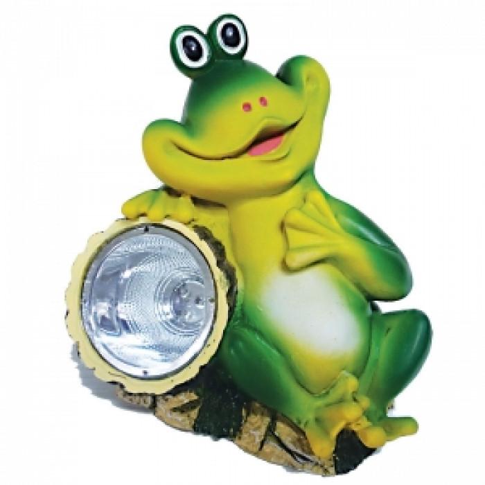 Соларна LED лампа - жаба