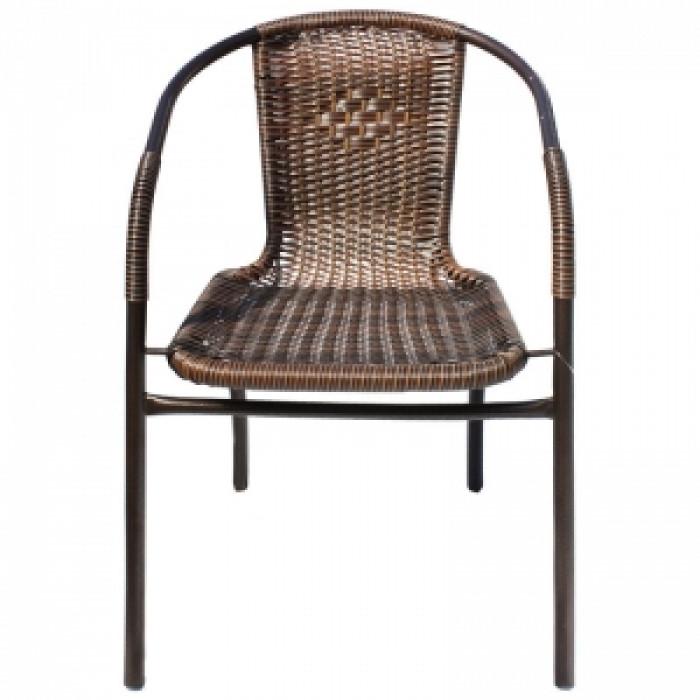 Стол метален с PVC ратан TLH037-Caffee