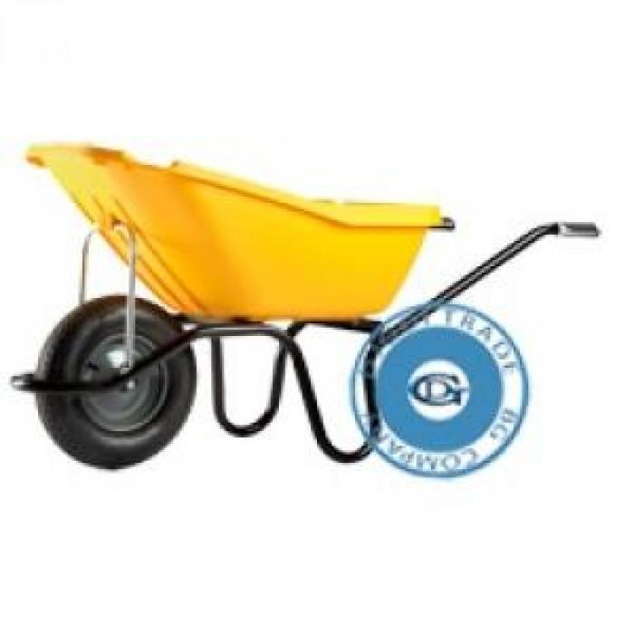 Строителна количка пластмасова 110л