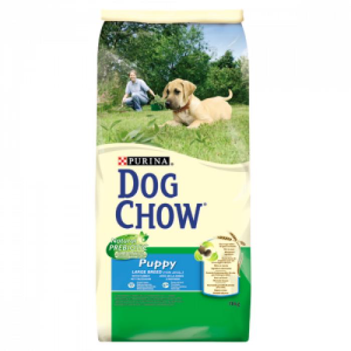 Суха храна за кученца  DOG CHOW PUPPY LARGE BREED с пуйка 15 кг.