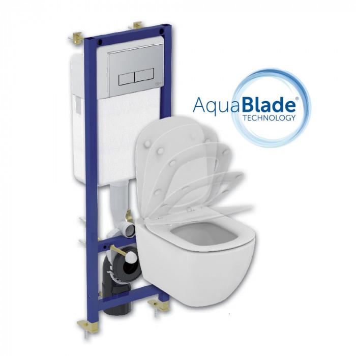 Комплект AQUABLADE Tesi 4  части с ултра тънка седалка със забавено падане