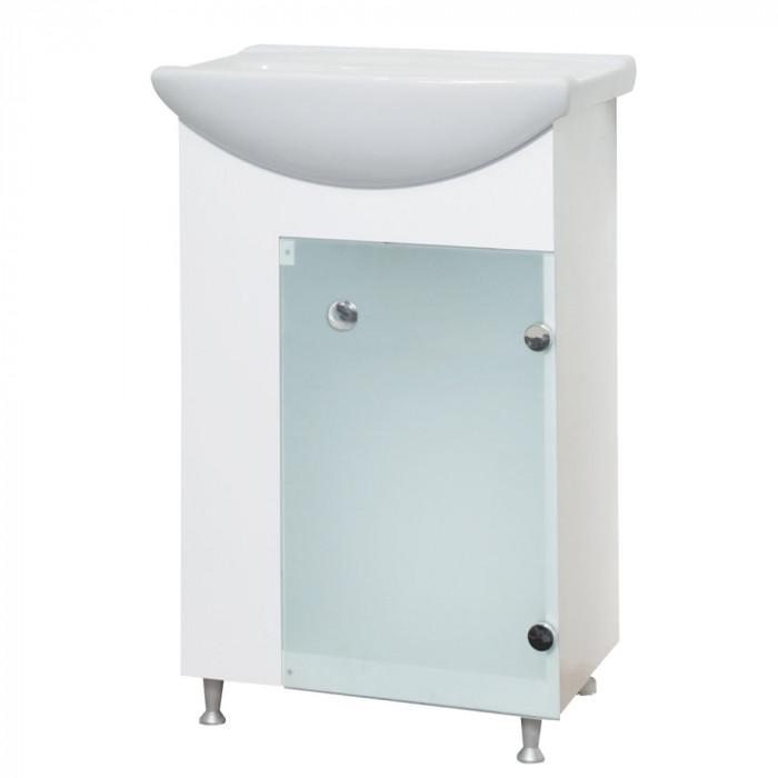 Долен шкаф за баня с умивалник Трио