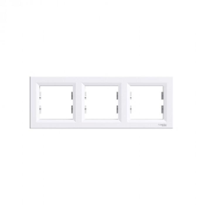 3-на бяла рамка за контакт Asfora