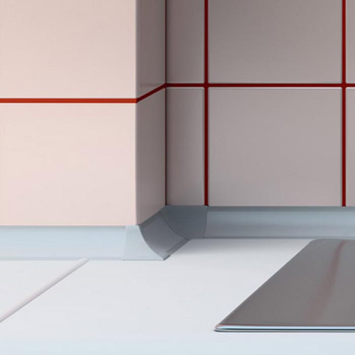 Вътрешен ъгъл за водобранна лайсна Salag сребро