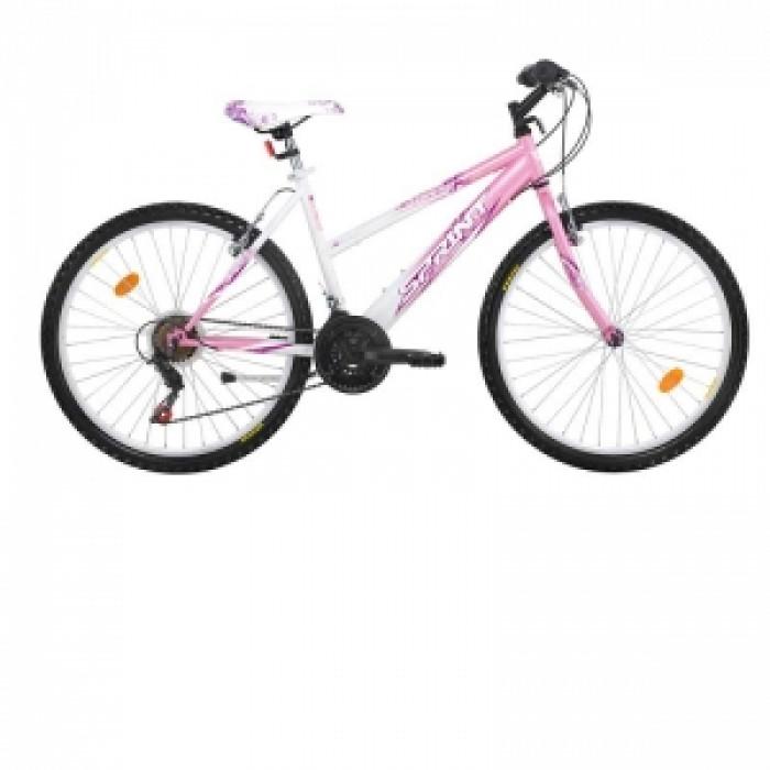 Велосипед vanessa 26 бяло и розово