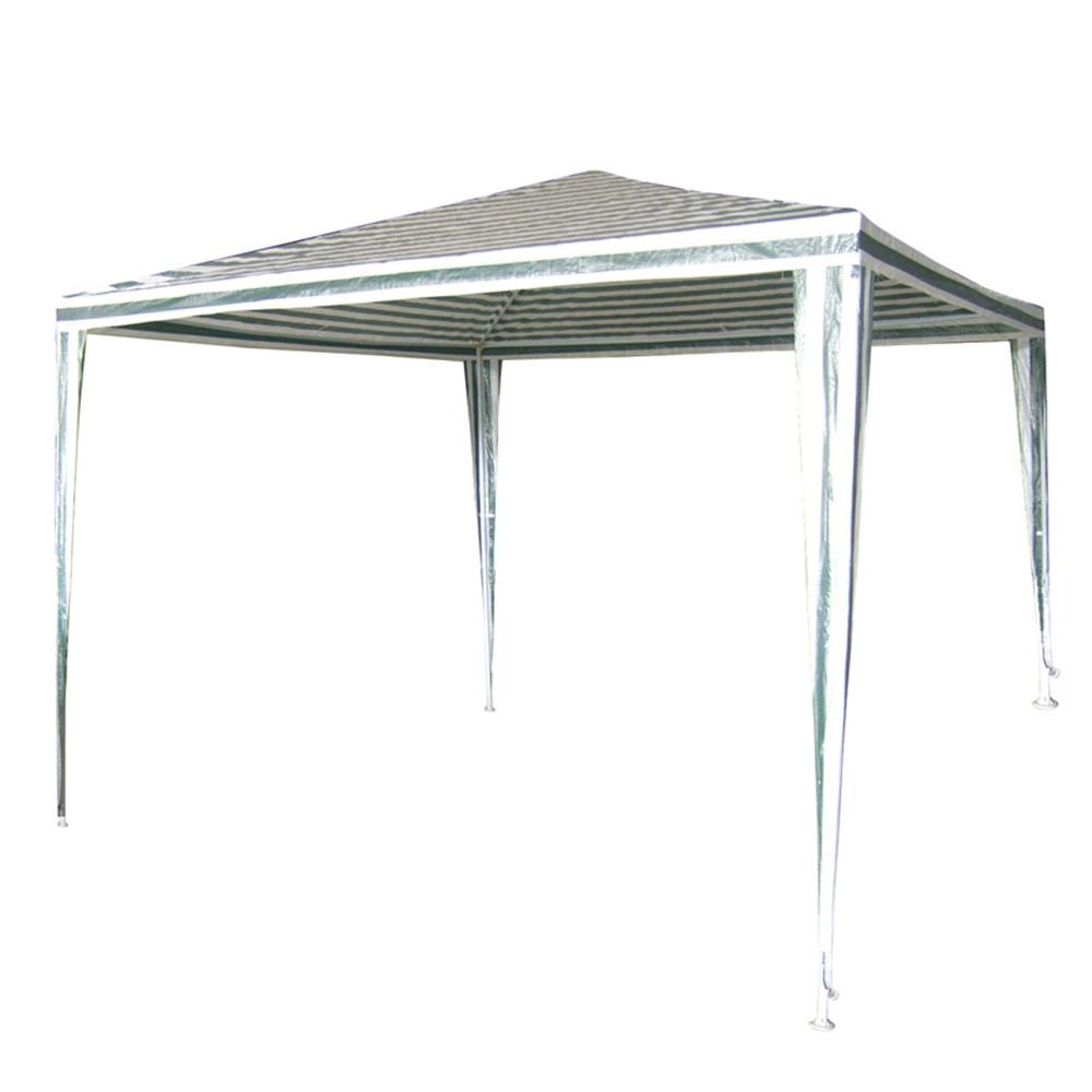 Градинска шатра TLC003 полиетилен, 2,4 x 2,4м бяло/зелена