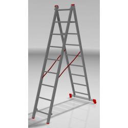 Алуминиева сертифицирана стълба NV 122 / 2x9 стъпала / 150 кг