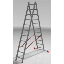 Алуминиева сертифицирана стълба NV 122 / 2x11 стъпала / 150 кг
