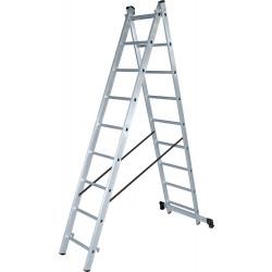 Алуминиева сертифицирана стълба NV 122 / 2x13 стъпала / 150 кг