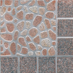 Глазиран гранитогрес 333 x 333 Мелник кафяв