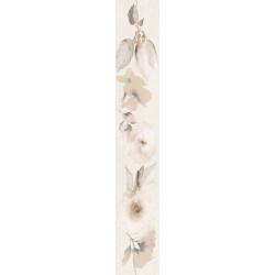Стенни декоративни плочки фриз IJ 80x500 Калисто цветя крем