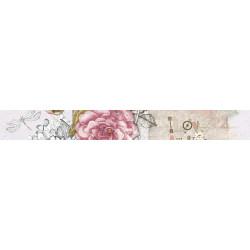 Стенна декорация фриз IJ 60 x 500 Ажур роза светлорозова