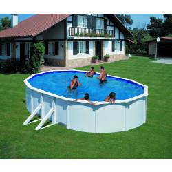 Сглобяем басейн с метална стена, овал 610х375х132см