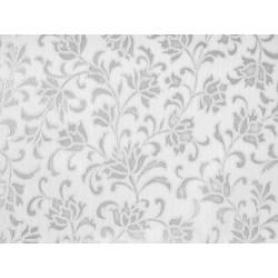 Мушама Класик цветя 514-53 сребро