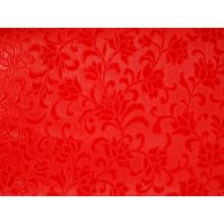 Мушама Класик цветя 514-56 червена