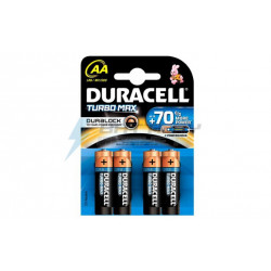 БАТЕРИЯ LR6 TURBO DURACELL 4 БРОЯ