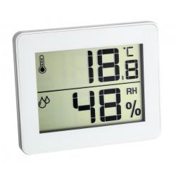Цифров термометър - хигрометър, мин-макс, бял