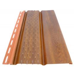 Обшивка за стреха Soffit панел 3м, перфориран,златен дъб 2