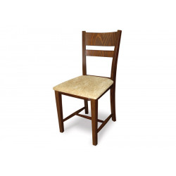 Трапезен тапициран стол Томи орех