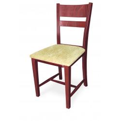 Трапезен тапициран стол Томи череша