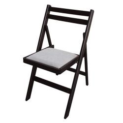 Сгъваем тапициран стол Ангел венге