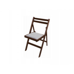 Сгъваем тапициран стол Ангел орех