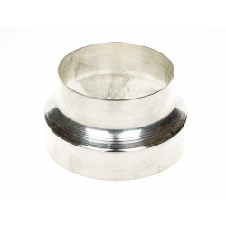 Преход за въздуховод 100/125 алуминий