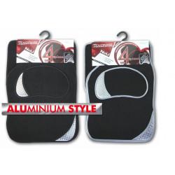 Автомобилни стелки мокет с алуминий / комплект 4 части