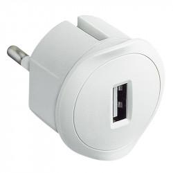 Зарядно за контакт USB бяло