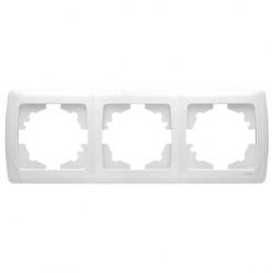 Тройна хоризонтална рамка за контакт Viko бяла