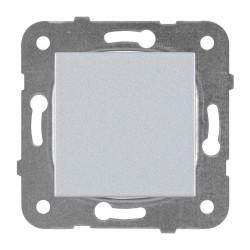 Единичен ключ мех+капак сив Panasonic Каре Плюс