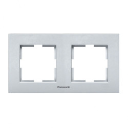 Двойна рамка хоризонтална сив  Panasonic Каре Плюс