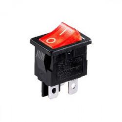 Електрически ключ / прекъсвач 12A черно-червен