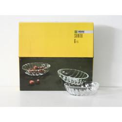 Стъклени купи овал 6 бр.