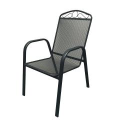 Метален мрежесто перфориран стол с подлакътници GW-0028