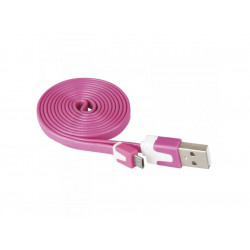Кабел USB/USB micro розов Emos