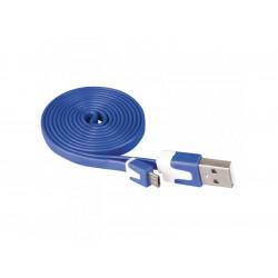 Кабел USB/USB micro син Emos