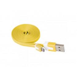 Кабел USB/USB micro жълт Emos