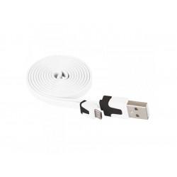 Кабел USB/USB micro бял Emos