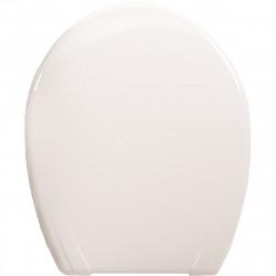 Пластмасова тоалетна седалка Магнолия с раздвижен шарнир / бяла