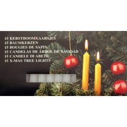 Свещи за коледно дърво 15 броя