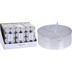 Коледни чаени свещи 8 броя / бели