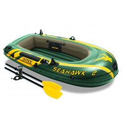 Надуваема двуместна лодка Intex Seahawk 2