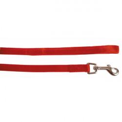 Повод от плат Cushion 15мм/1.2м червен