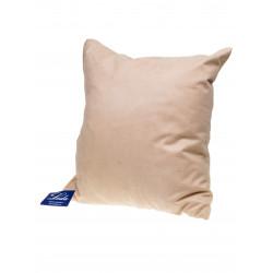 Декоративна възглавница с цип и пълнеж 43х43см / светлобежова